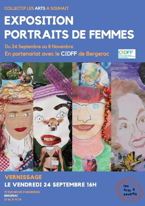 Best of Bergerac Agenda Collectif Les Arts A Souhait Exposition Portraits de Femmes