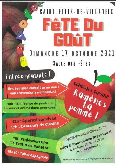Best of Bergerac Agenda Fête du Goût Saint-Félix-de-Villadeix